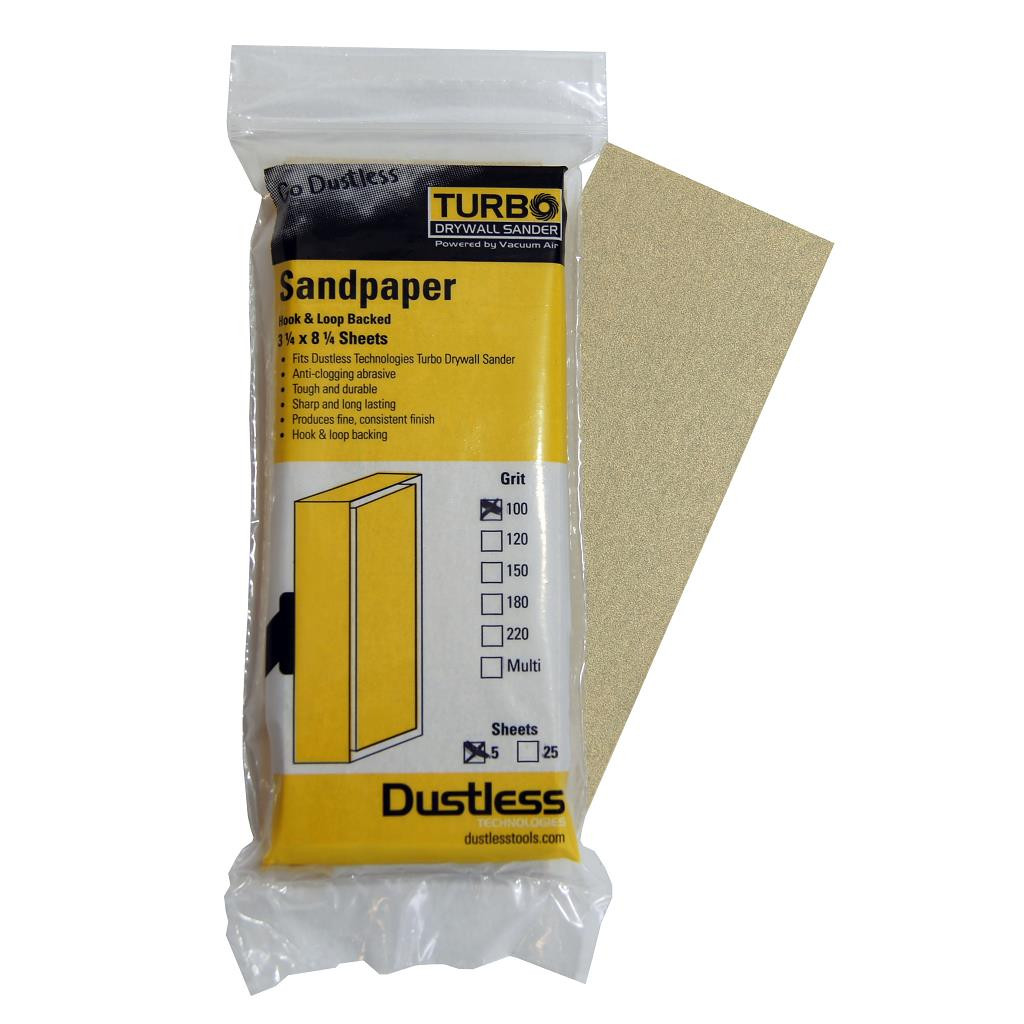 Sandpaper 100 Grit 5 Pack