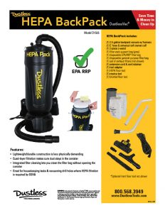 Backpack Vacuum Sales Flyer