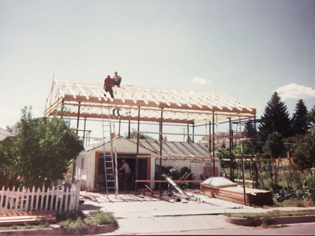 Construction of larger garage