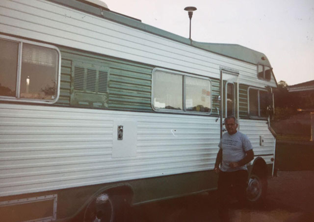Motorhome that drove to all the first tradeshows