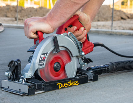 DustBuddie for Worm Drive Saws - Dry Cutting Dust-Free